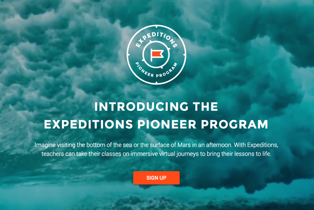 Introducing the Expeditions Pioneer Program of Google